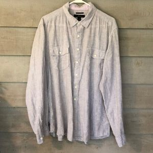 Men's Marc Anthony Long Sleeve Linen Shirt